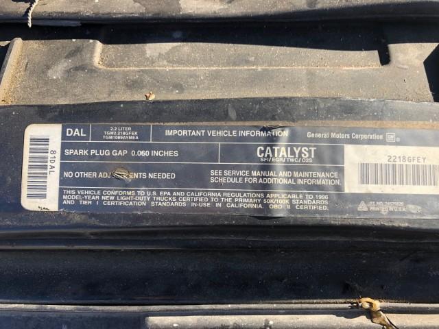 1996 GMC Sonoma SL Reg. Cab Short Bed 2WD for sale at Ohio Auto Toyz