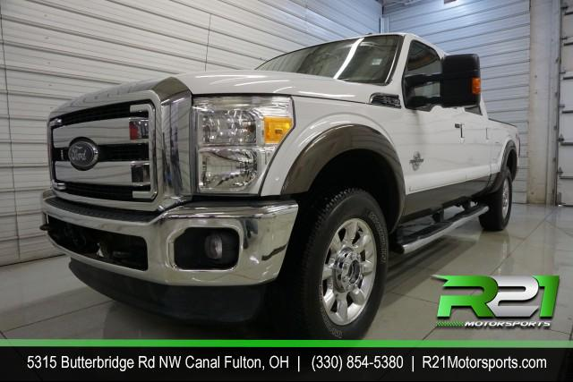2014 FORD F-250  LARIAT CREW CAB 4WD 6.7L POWERSTROKE DIESEL for sale at R21 Motorsports