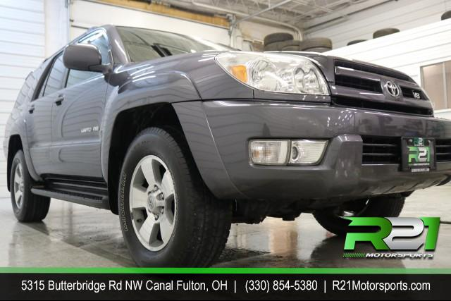 2005 TOYOTA 4RUNNER LIMITED V8 4WD - SUPER CLEAN - LOW MILES - PRICED TO SELL - CALL 330-854-5380 FOR DETAILS!! for sale at R21 Motorsports